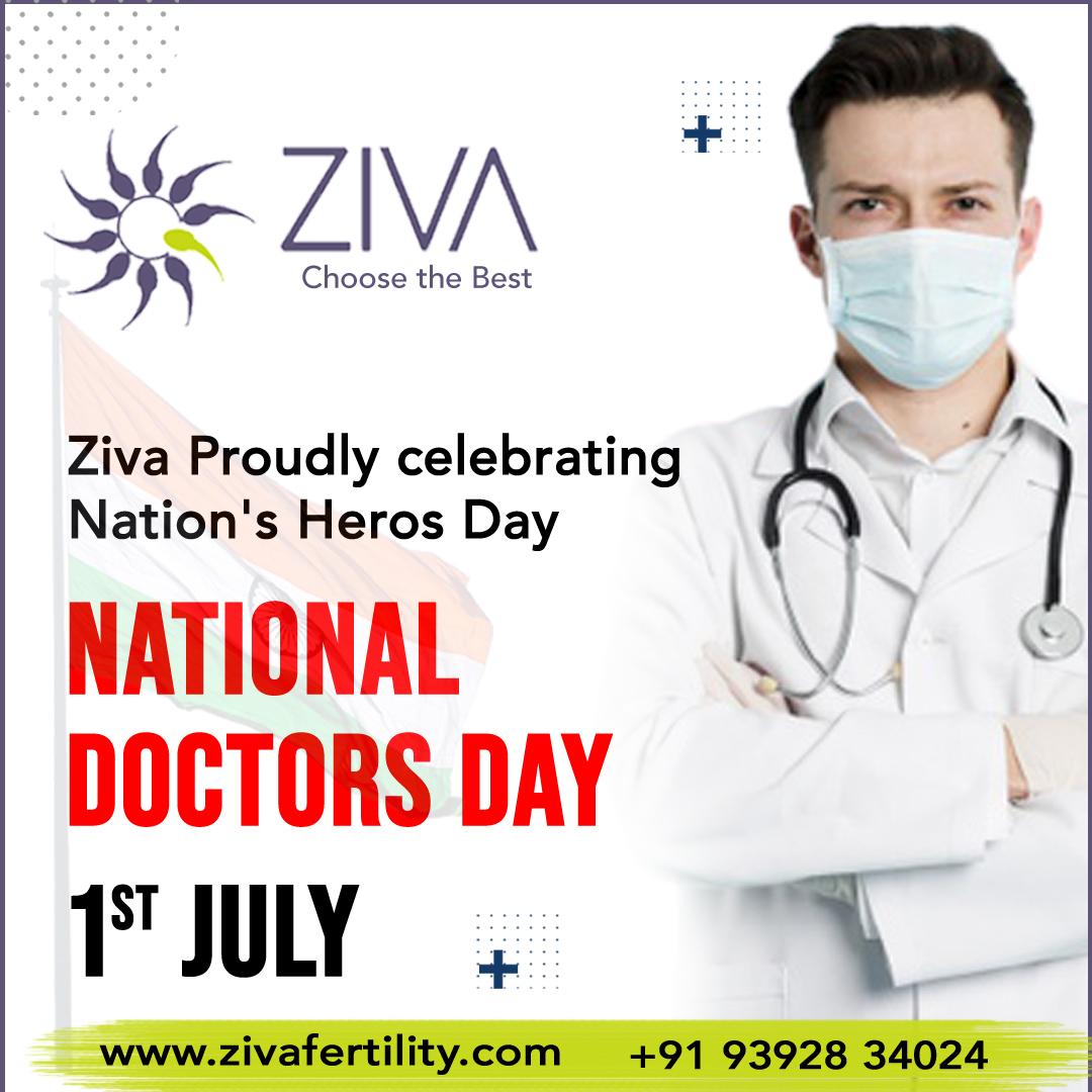 Happy National Doctor's Day wishes by Ziva Fertility Center Hyderabad, infertility clinic near Banjara Hills